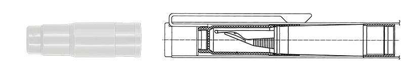 Schnappdichtung für Füllhalter-Abschlusskappe