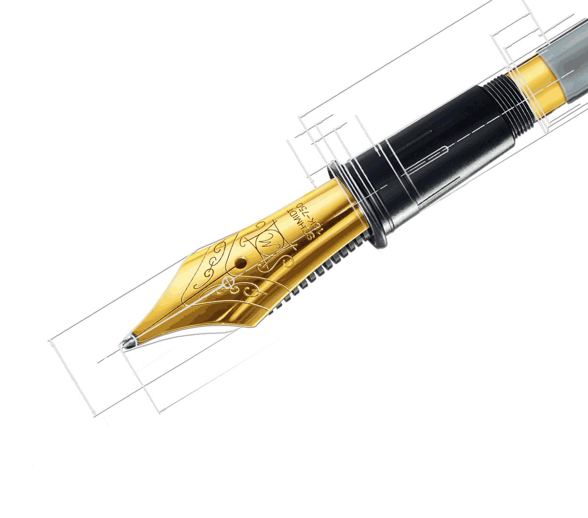 Füllhalter Feder für das weiche Schreiben mit Tinte